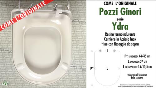 Sedile Wc Pozzi Ginori Ydra.Copriwater Per Wc Ydra Pozzi Ginori Ricambio Come L Originale Duroplast Sintesibagno Shop Online