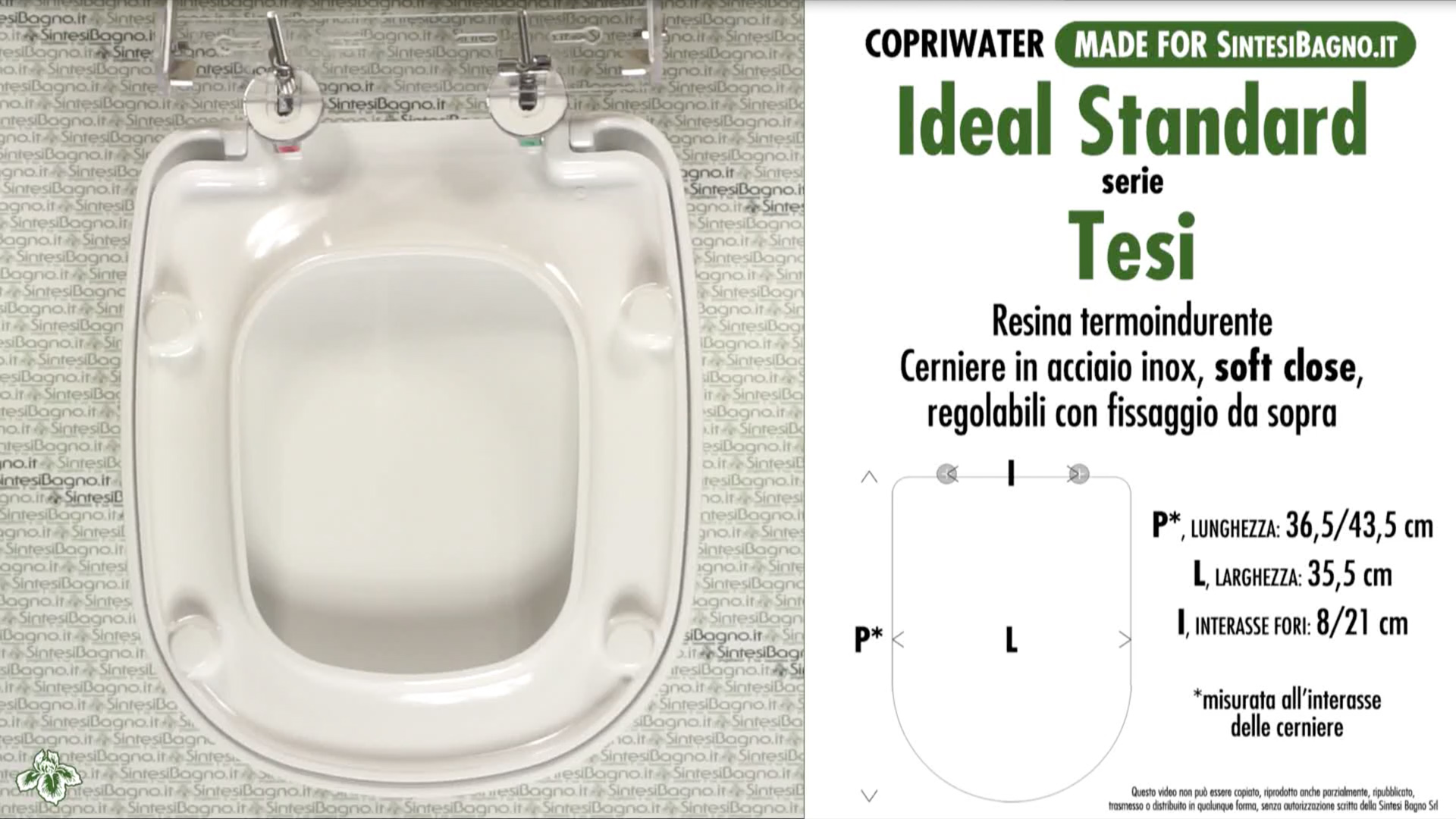 Sedile Wc Ideal Standard Tesi.Wc Seat Made For Wc Tesi Ideal Standard Model Soft Close Type Dedicated Sintesibagno Shop Online