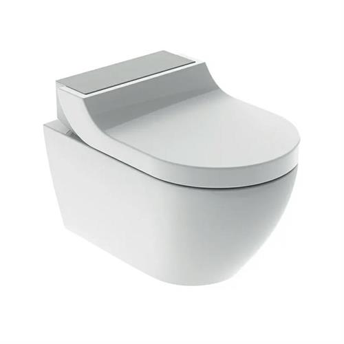 Geberit AquaClean Tuma Comfort WC, wall-hung WC. Stainless steel. 146.290.FW.1