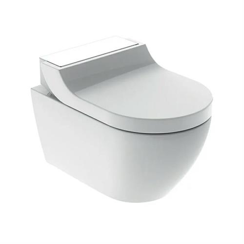 Geberit AquaClean Tuma Comfort WC, wall-hung WC. Glass/White. 146.290.SI.1