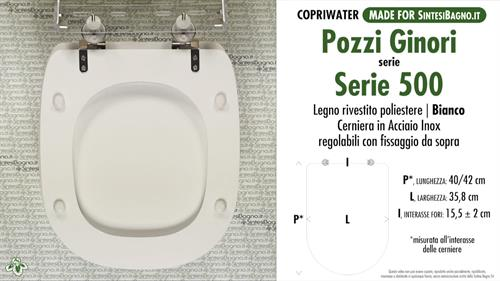 Sedile Copriwater Pozzi Ginori Serie 500.Copriwater Per Wc Serie 500 Pozzi Ginori Ricambio Dedicato Legno Rivestito Sintesibagno Shop Online