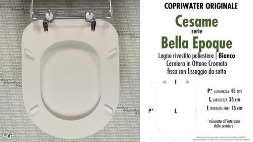 Copriwater Coprivaso Tavoletta SEDILE WC PER CESAME VASO BELLE EPOQUE BIANCO