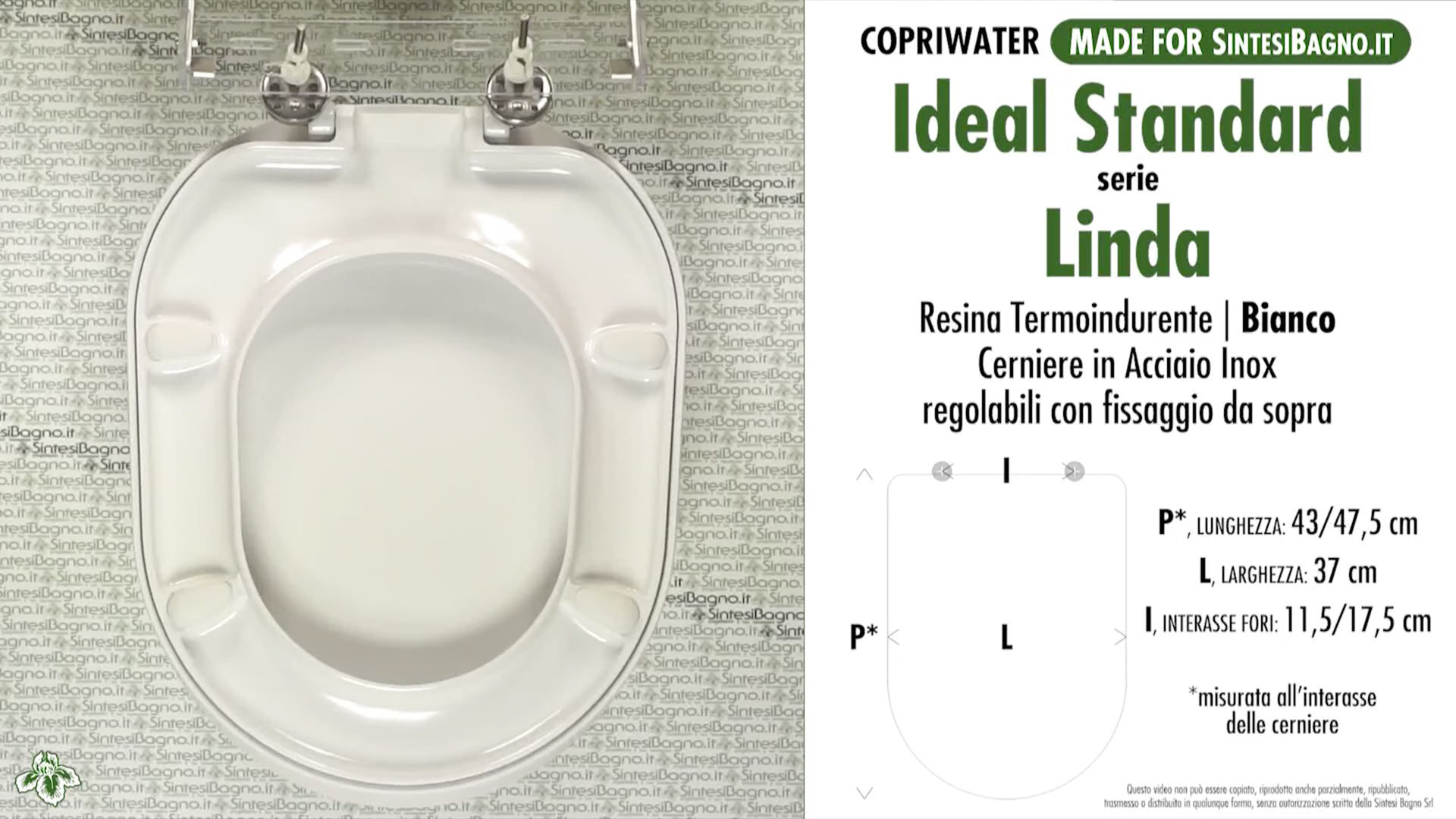 Copriwater per wc linda ideal standard ricambio dedicato for Copriwater ideal