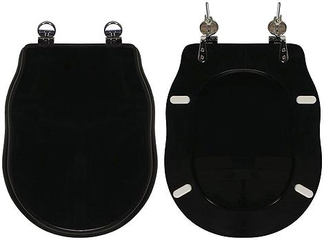 Copriwater Ellade Hidra ceramica colore nero lucido